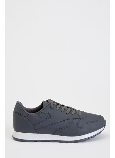 Defacto –Fit Bağcıklı Sneaker Ayakkabı Gri